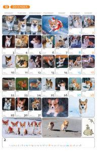 2001年版コーギーカレンダー