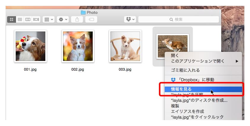 MacOSで画像サイズを確認する